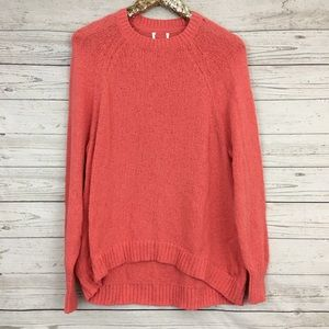 Caslon coral relaxed oversized crewneck sweater